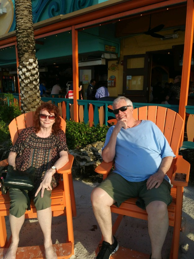 John and I waiting for a table in Florida