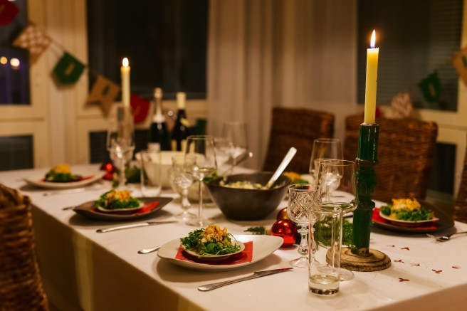 Christmas table at Hester's